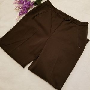 Talbots Petites Stretch Dark Olive pants - size 10